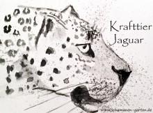 Krafttier Jaguar, spirituelle Bedeutung, Aquarell