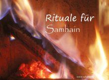Rituale für Samhain/Halloween-Rituale: Dazu gehört auch immer ein Feuer, wie hier im Bild zu sehen ist.