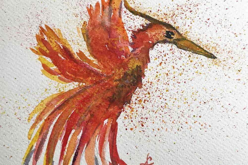 Phoenix, Feuervogel, Krafttier, schamanisch